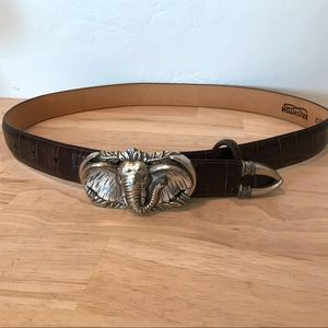 Brighton dark brown belt
